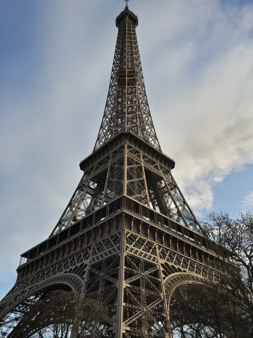 eiffel tower wrought iron lattice tower champ de mars