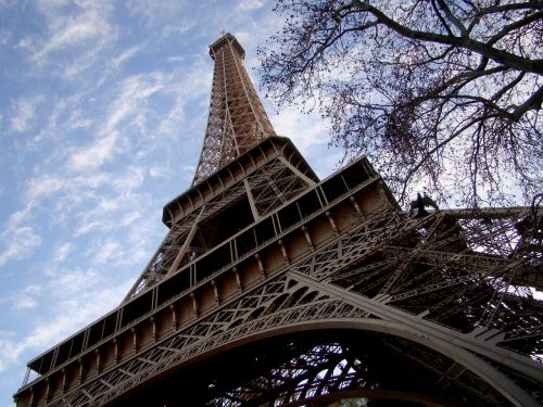 eiffel tower traveling in europe very high