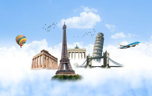 eiffel tower pisa tower london bridge