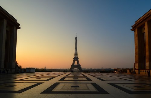 eiffel tower  sunrise  paris