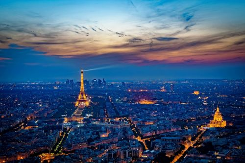 eiffel tower france sunset