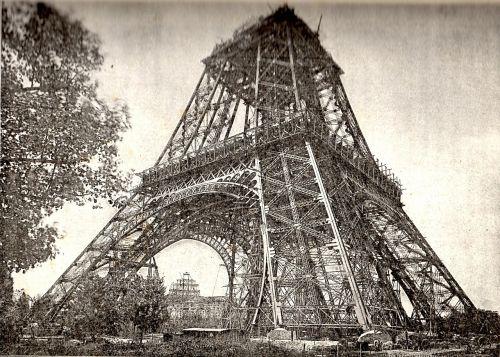 eiffel tower under construction july 1888 paris