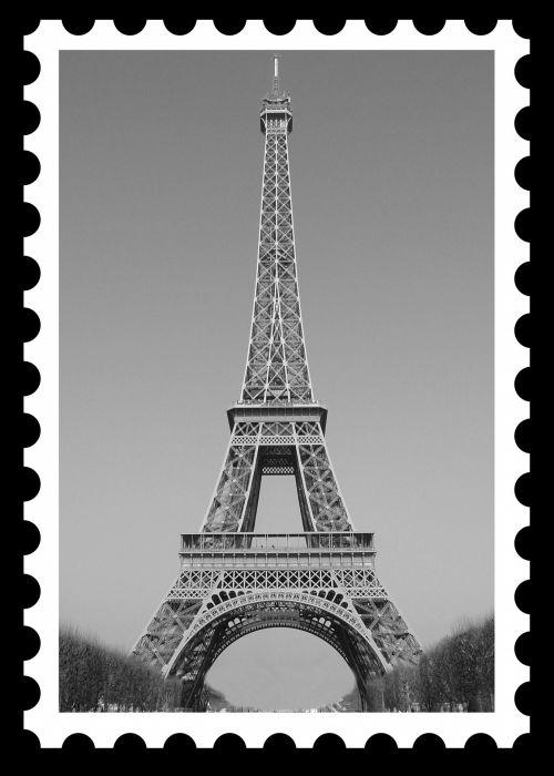 Eiffel Tower Vintage Postage