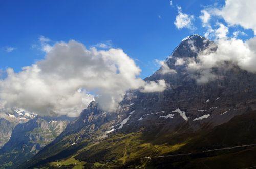 eiger north face panorama alpine