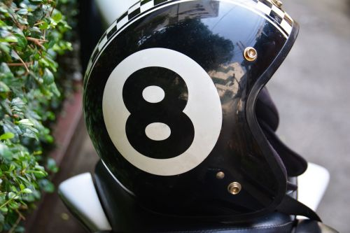 eight motorbike helmet lid