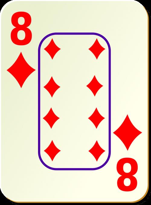eight 8 diamonds