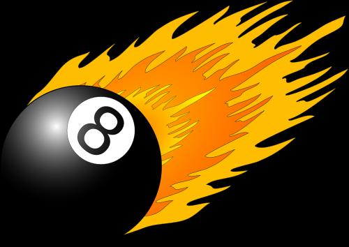 eight ball flame