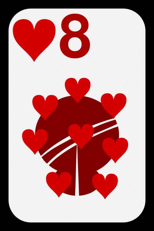 eight hearts card