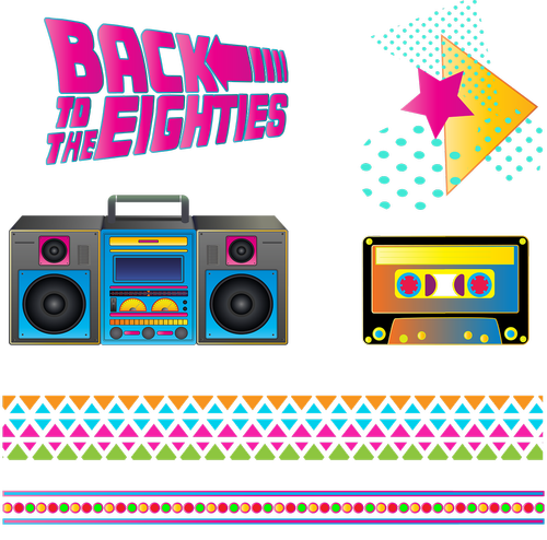 eighties  boombox  retro