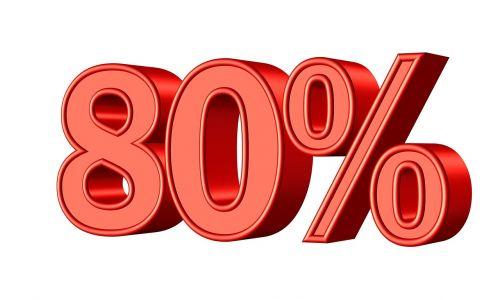 eighty 80 percent