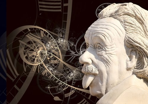 einstein  science  sculpture