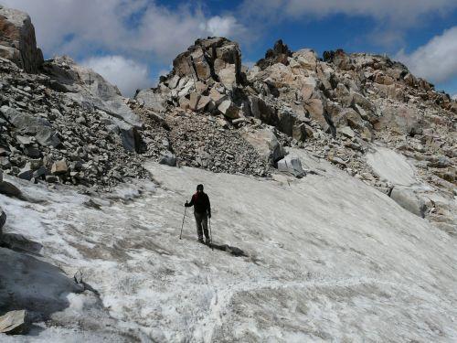 eisfeld glacier person