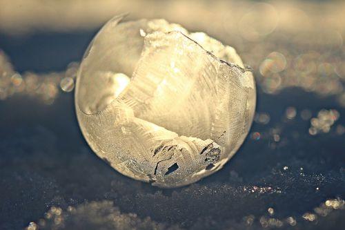 eiskristalle soap bubble frost blister