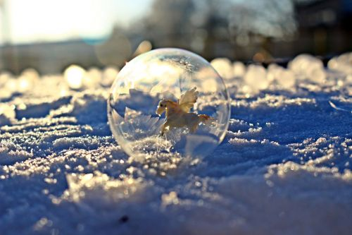 eiskristalle ice-bag frost globe