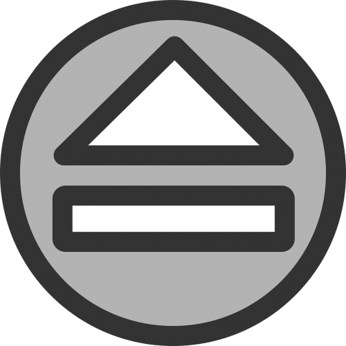 eject button triangle
