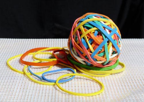 elastic bands colour ball