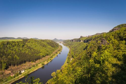elbe saxon switzerland elbe sandstone mountains