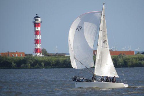 elbe beacon sailing boat
