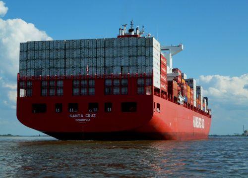 elbe container ship navigation