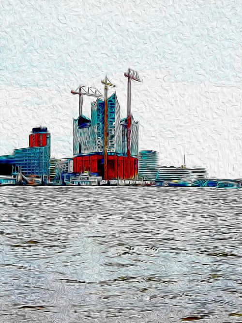 elbe philharmonic hall abstract water