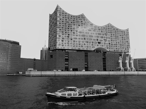 elbe philharmonic hall  hamburg  landmark