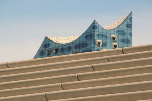 elbe philharmonic hall  hamburg  stairs