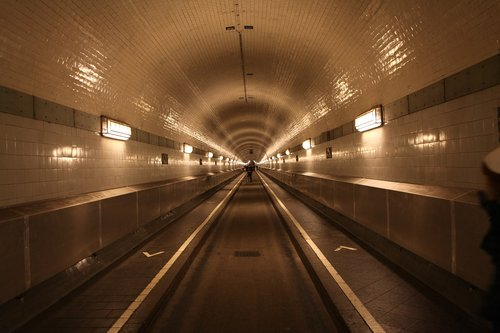 elbe tunnel  perspective  architecture