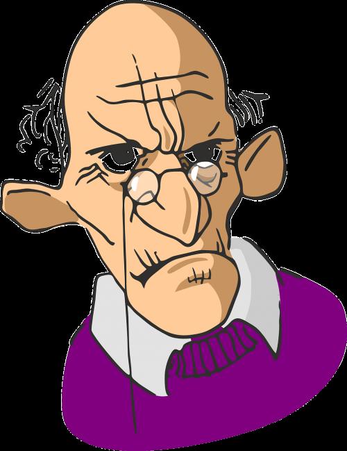 elderly wrinkled man