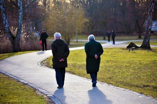 elderly happy  third age  fatigue