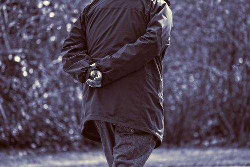 elderly man person walking