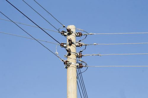 electric poles daytime