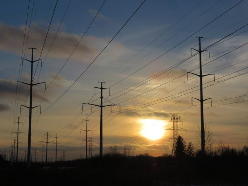 electric wires power lines