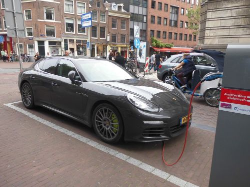 electric car porsche save energy