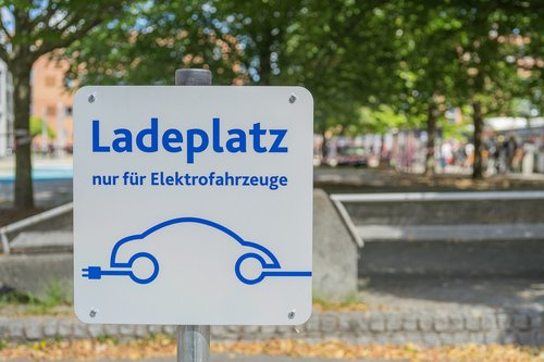 electric car  load space  charging station