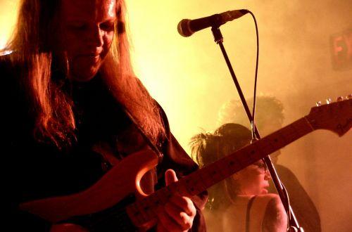 electric guitar rock band guitar player