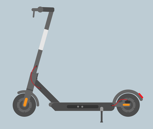 electric scooter  transporting  scooter