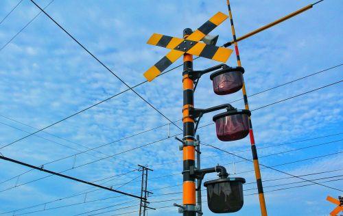 electric train japan railroad crossing
