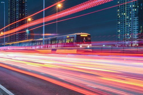 electric train  speed  the light