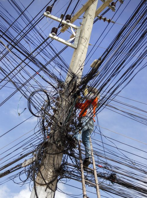 electrical cable mess energy electricity