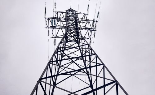 electricity wire transmission towers