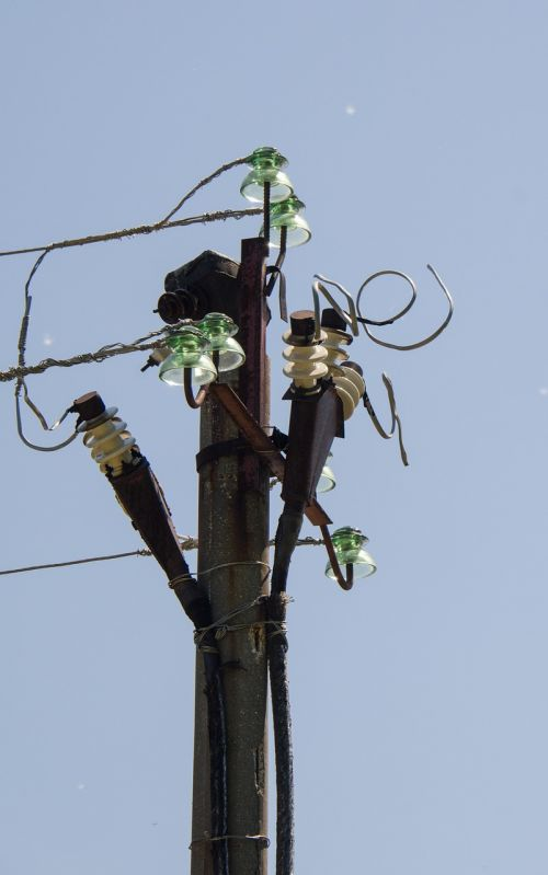 electricity post wire