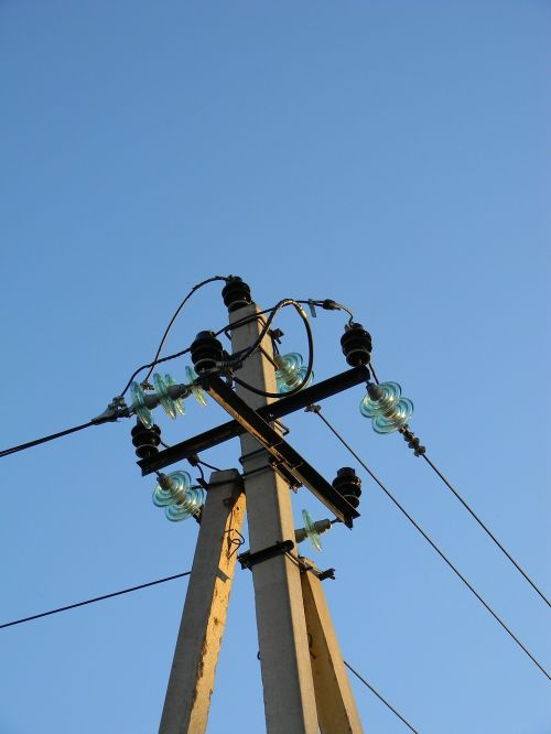 electricity wire post