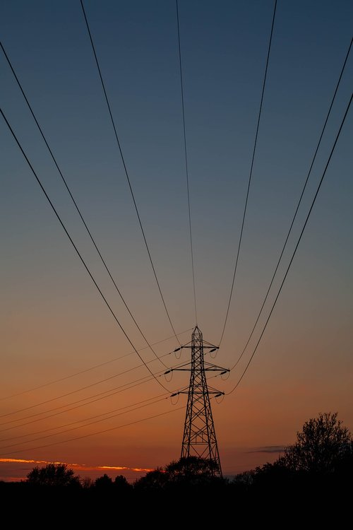 electricity pylon  pylon  energy