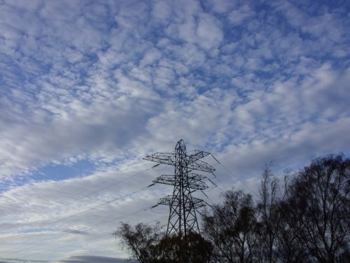Electricity Pylon And Sky
