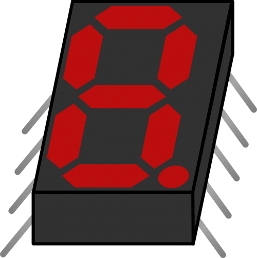 electronic display eight