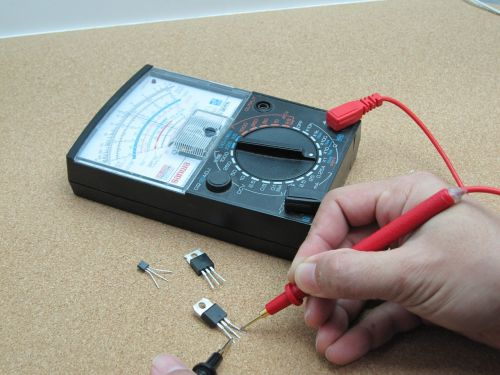 electronics transistor multimeter