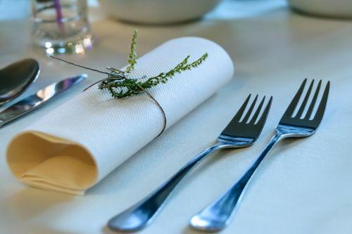 elegant tableware forks dining table