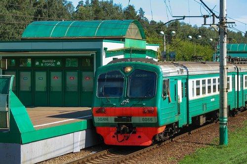elektrichka  rails  train