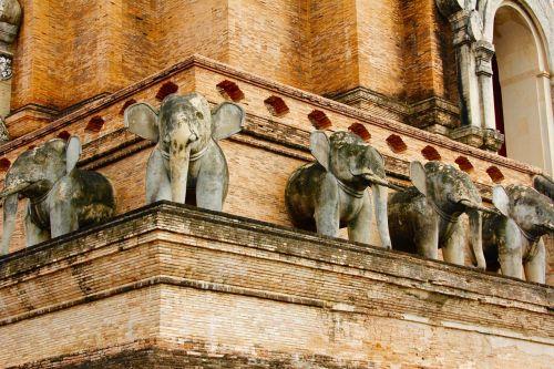elephant stone figure temple