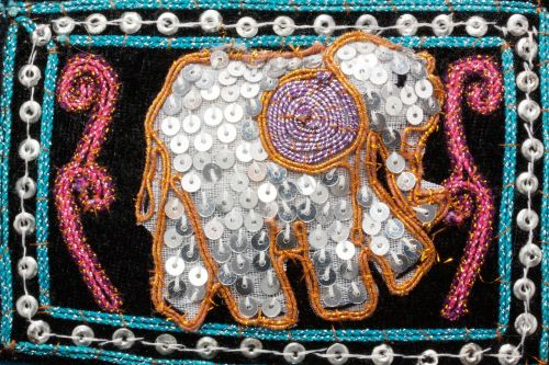 elephant graphically sequins